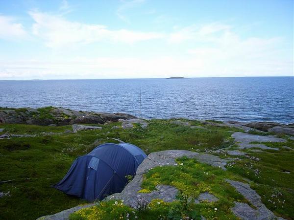 Наша палатка и «удочковый» GP на 20 м.