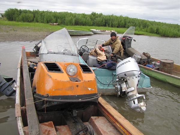 Александр Гаврилов на рыбацком участоке о.Мархаяновский