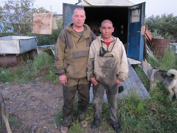 Евгений и Стас-якут на рыбучастке Мархаяновский