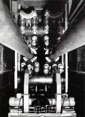 Фрагмент выходной контурной системы КВ - передатчика мощностью 2 МВт
