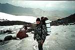Игорь Лаврушов на маршруте - Эльбрус, 2000 год