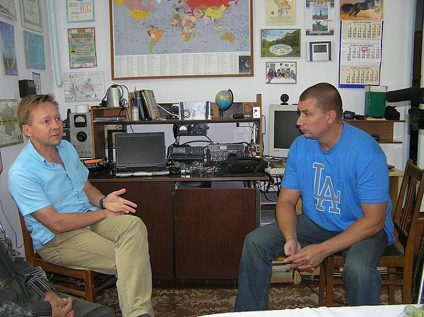 Влад дает интервью. Позиция станции T10VB, Приднестровье.