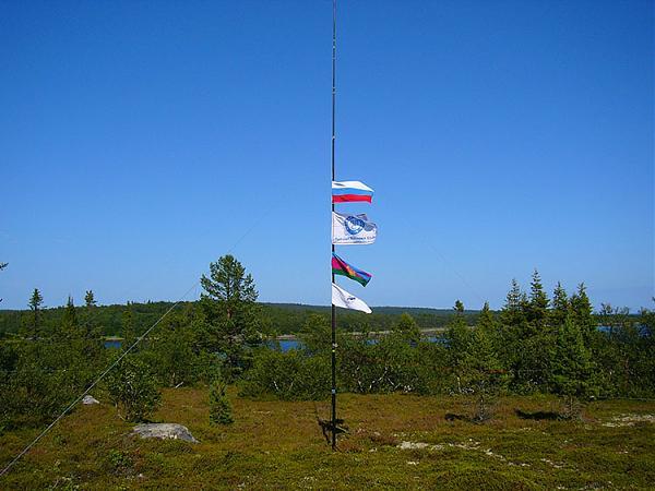 Флаги на антенне GP, на пластиковом удилище от Spider