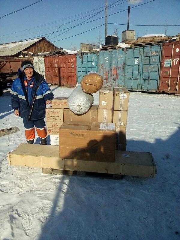 Василий Пантюхин UA0QCO получил в Якутске 270кг. экспедиционного груза