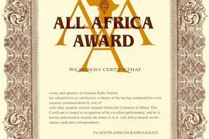 ALL AFRICA AWARD