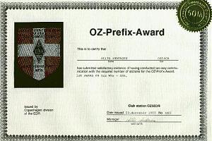 OZ-PREFIX AWARD