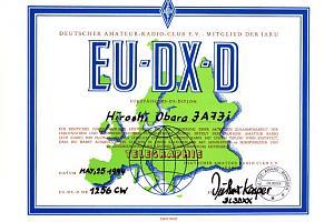 EU-DX-D (EUROPE DX DIPLOMA)