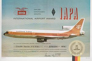 IAPA (INTERNATIONAL AIRPORT AWARD)