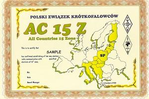 AC-15-Z (ALL COUNTRIES OF 15 ZONE)