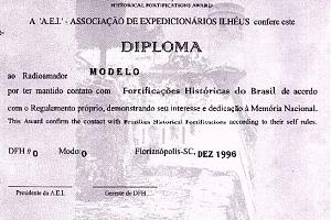 DFH (DIPLOMA FORTIFICACOESHISTORICAS - HISTORICAL FORTIFICATIONS AWARD)