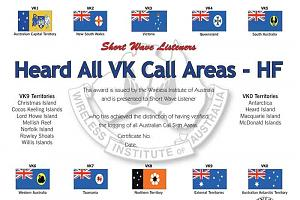 HAVKCA (HEARD ALL VK CALL AREAS AWARD)