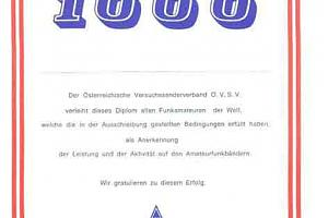 UKW 1000 (WORKED 1000 VHF/UHF/SHF STATIONS WITHIN ONE YEAR)