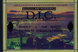 D.I.C. (DIPLOMA ISOLE CAMPANE - CAMPANIA ISLANDS AWARD)