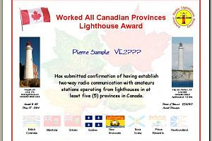 WORKED ALL CANADIAN PROVINCES LIGHTHOUSE AWARD