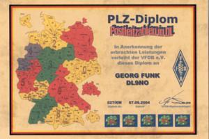 VFDB PLZ-DIPLOM (POSTLEITZAHLEN-) POSTCODES
