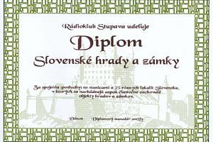 DIPLOM SLOVENSKE HRADY A ZAMKY (CASTLES AWARD)