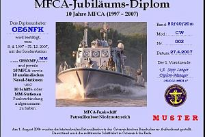 MFCA JUBILEUMS DIPLOM