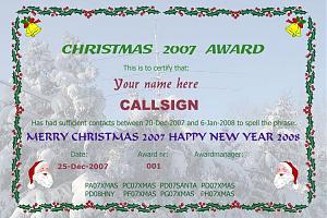 CHRISTMAS 2007 AWARD