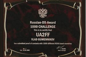 RDXA (RUSSIAN DX AWARD)