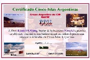 CINCO ISLAS ARGENTINAS (FIVE ARGENTINE ISLANDS)
