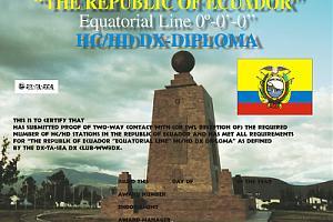 EQUATORIAL LINE DIPLOMA LATITUDE 0'0'0