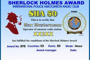 SHERLOCK HOLMES AWARD