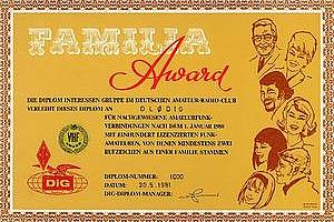 FAMILIA AWARD