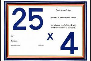 25 X 4 AWARD