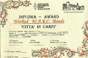 "WORKED WARC BANDS ""CITTA DI CARPI"" AWARD"