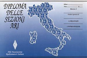 DIPLOMA DELLE SEZIONI ARI (ARI SECTIONS AWARD)