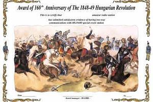 160TH ANNIVERSARY OF THE 1848-49 HUNGARIAN REVOLUTION AWARD