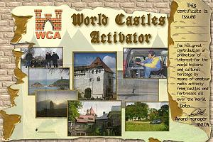 WCAA - WORLD CASTLES ACTIVATOR AWARD
