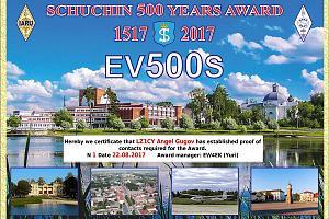 Schuchin 500 Years Award