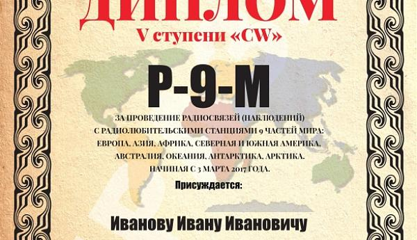 Р-9-М «Части света (мира)»