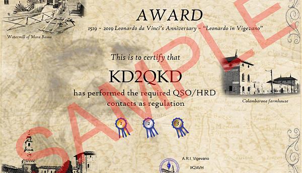 IB2LV AWARD - Леонардо Виджевано