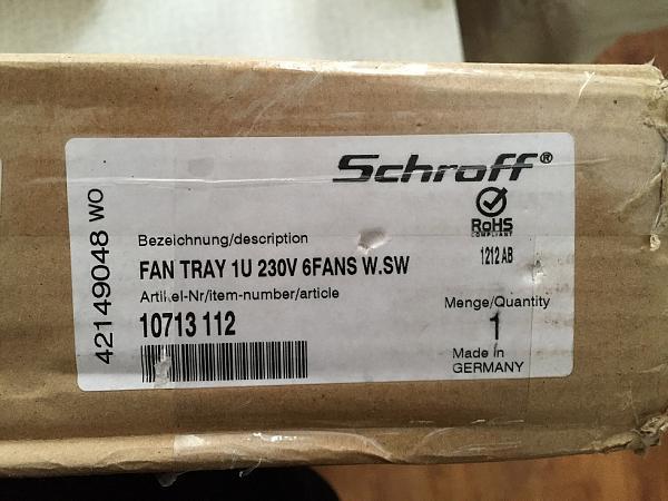 """Продам Вентилятор Schroff в стойку 19"""""""