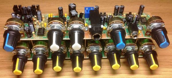 Продам Восьмиполосный эквалайзер с двумя микрофонными усилителями, с процессором эхо и реверберация, и УНЧ