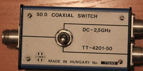 Продам Coaxial switch DC-2,5 GHz TT-4201-50