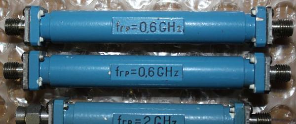 Продам ФНЧ, фильтры 0,6 ГГц 2ГГц 3шт.