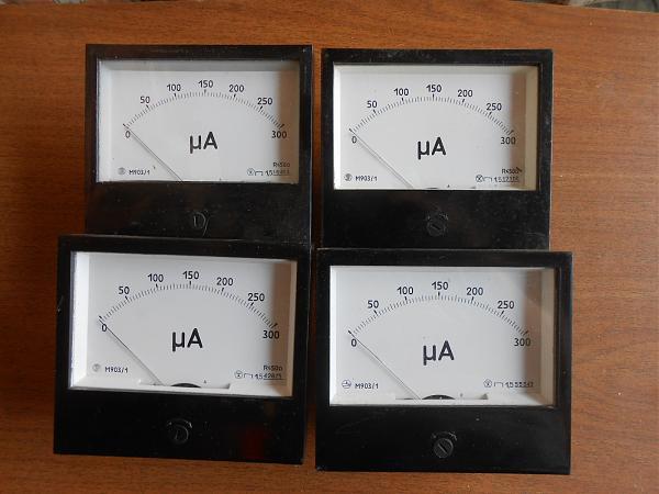 Продам Микроамперметры М903/1  300 микроампер