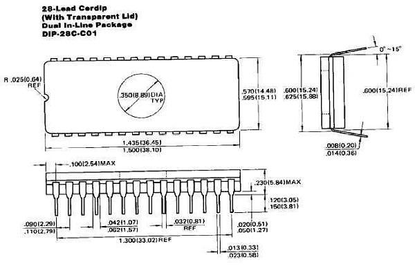 Продам ПЗУ с УФ стиранием Texas Instruments TMS2764-20JL