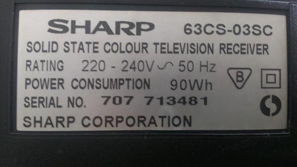 Продам SHARP_63CS-03SC перестал включаться