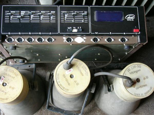 Продам усилитель-100 ватт.и 8 колокольчиков-динамиков