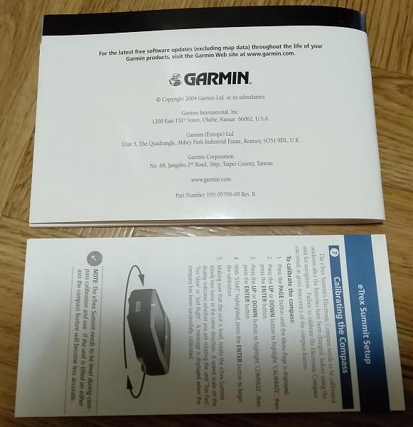 Продам Garmin еTrexs Summit инструкция
