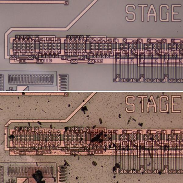 Результаты тестирования экспериментального чипа в термокамере GEER
