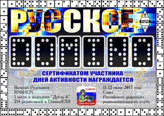 """Результаты """"Русское DOMINO 2017"""""""