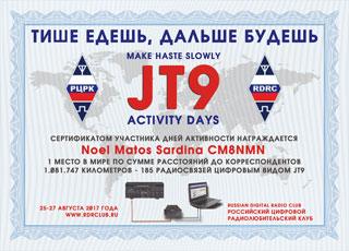 Результаты дней активности JT9 «Тише едешь, дальше будешь» 2017