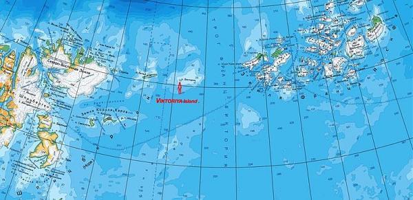 карта остров Виктория