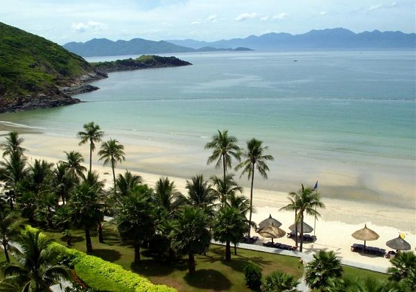 вид берег острова Хон Че