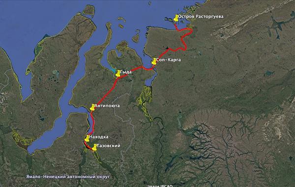 карта маршрута RI0B 2020